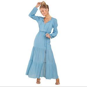 MinkPink Anira Blue Maxi Dress